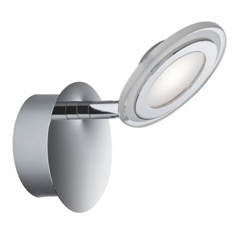 Spotlight 1 Light LED Disc Chrome, Clear/Frosted Glass Lens