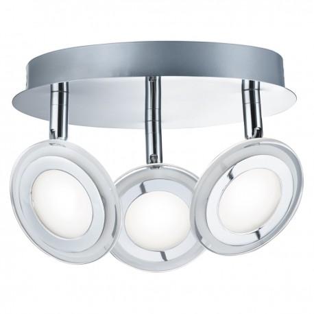 Spotlight 3 Light LED Disc Chrome, Clear/Frosted Glass Lens
