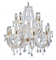 Marie Therese 12 Light Glass Crystal Chandelier