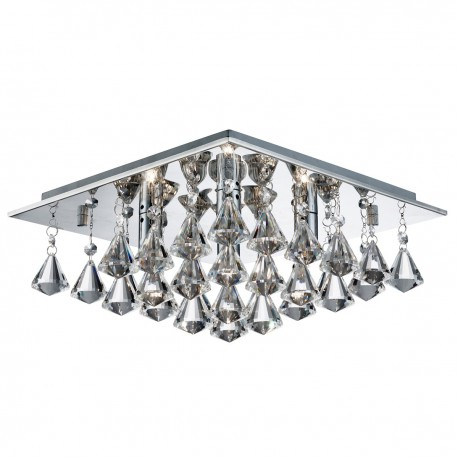 Hanna 4 Light Crystal Ball Square Fitting