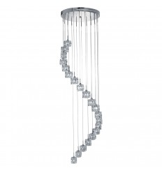 Ice Cube 20 Light Multidrop Pendant