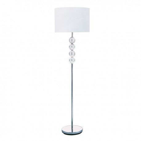 Chrome & Glass Floor Lamp 8194