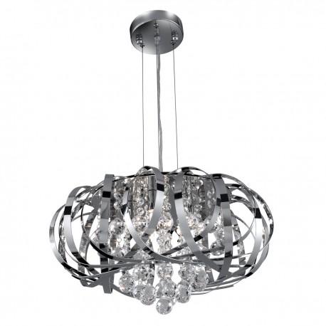 Tilly Chrome 5 Light Pendant - Clear Glass Balls