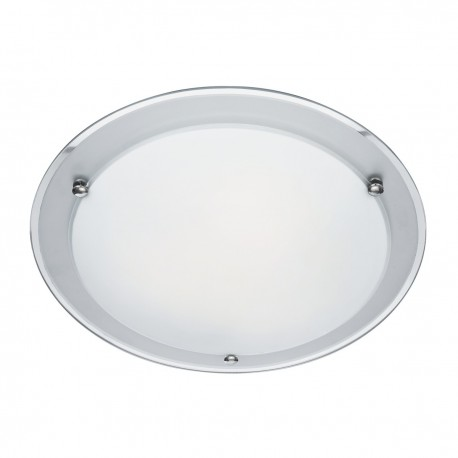 Etched Mirror Ceiling Fitting 42cm