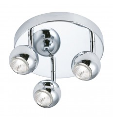 Eyeball 3 Light Chrome Spotlight Disc