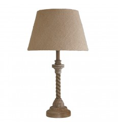 Table Lamp Small Twisted Base Wood