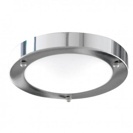 Bathroom IP44 1 Light - 31Cm Domed White Glass Flush