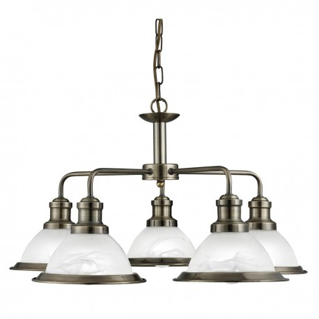 Bistro 5 Light Industrial Pendant