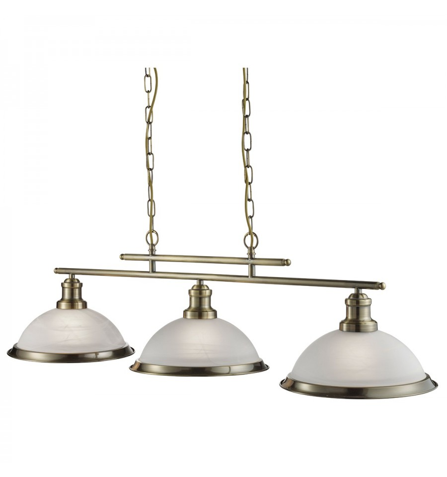 Bistro 3 Light Industrial Ceiling Bar Pendant Hegarty