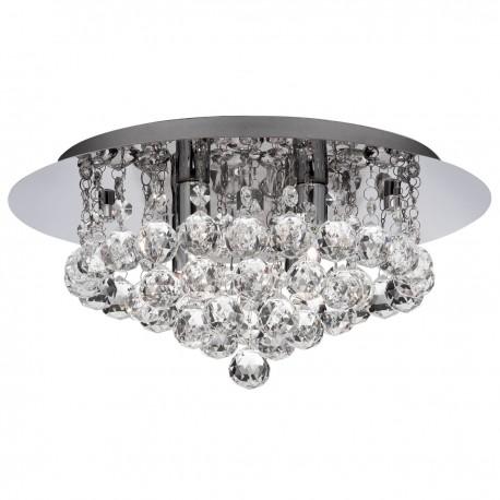 Hanna 4 Light Flush Clear Crystal Ball G9