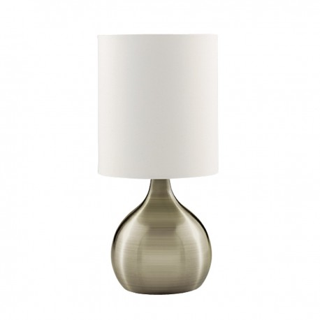Touch Table Lamp, Base, White Drum Shade