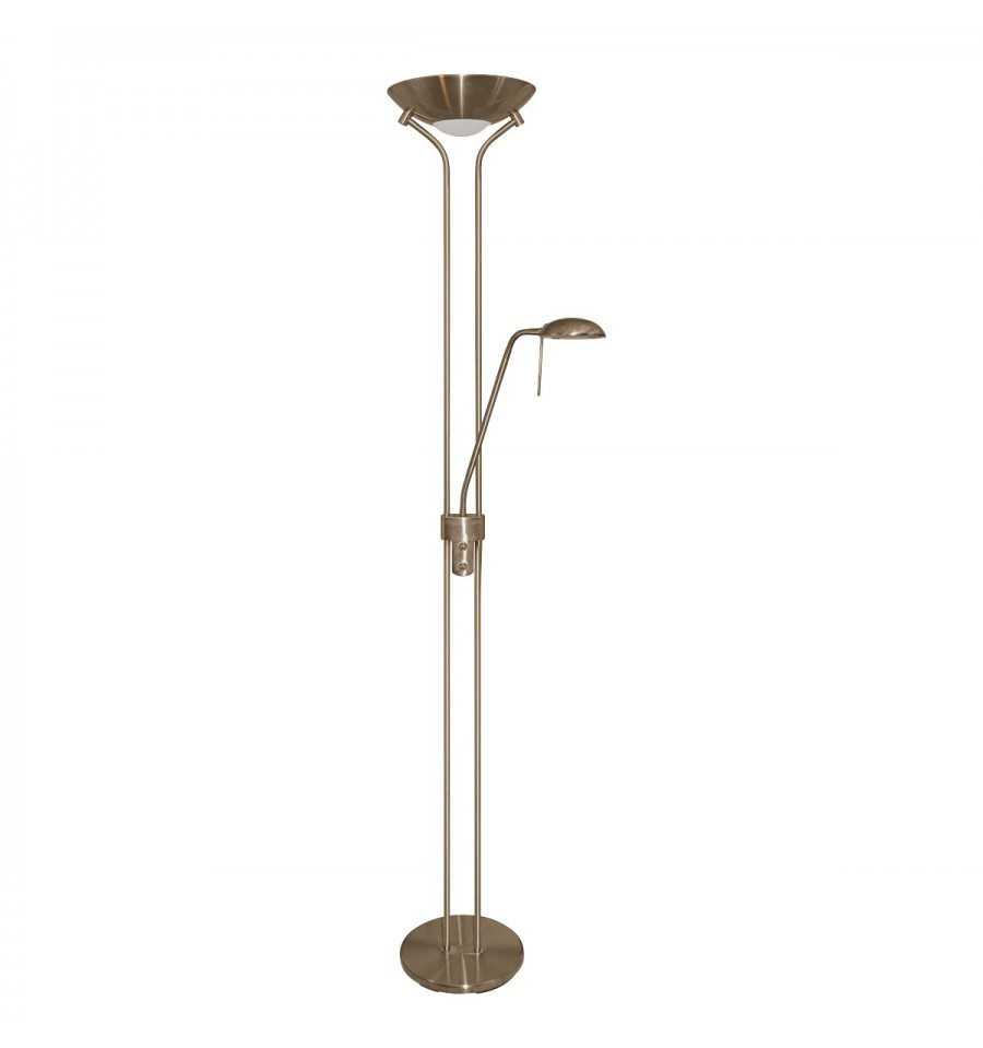 Mother child floor lamp double dimmer hegarty for White floor lamp with dimmer