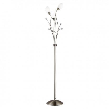 Gardenia 3 Light Floor Lamp Crystal Detail Glass