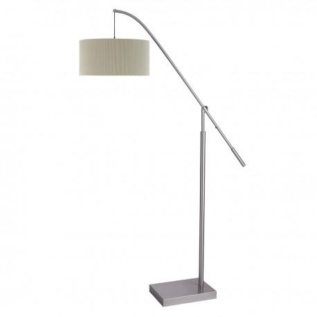 Arcs Floor Lamp, Cream Pleat Shade