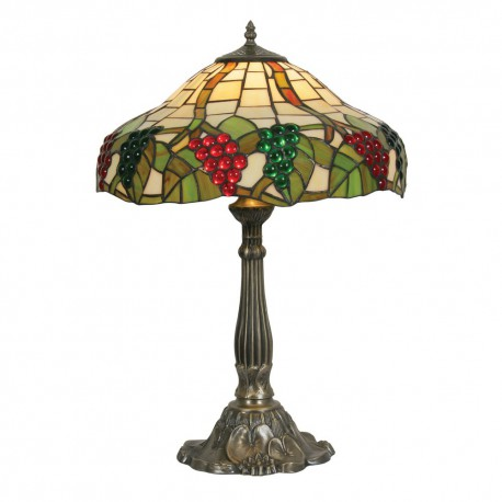 Grapes II Tiffany Table Lamp 16""