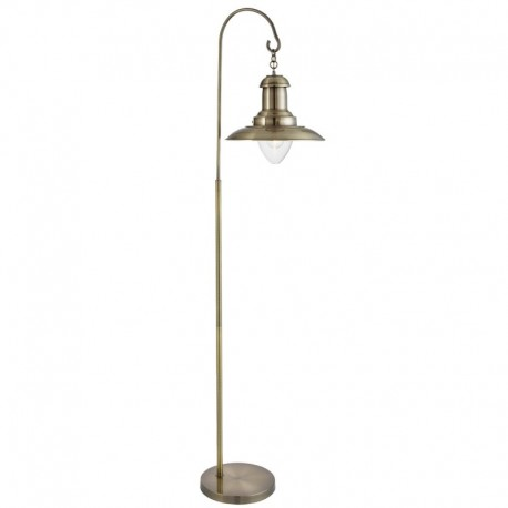 Fisherman Floor Lamp, Clear Glass Shade