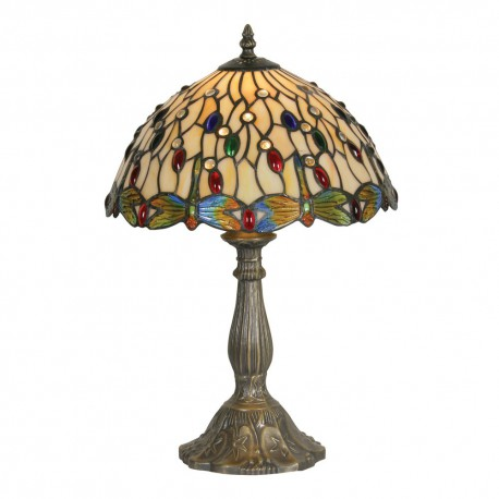 Dragon Fly II Tiffany Table Lamp 12""
