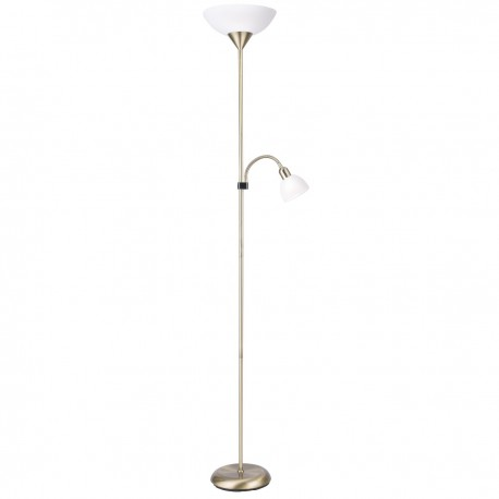 Mother & Child Floor Lamp with White Shades
