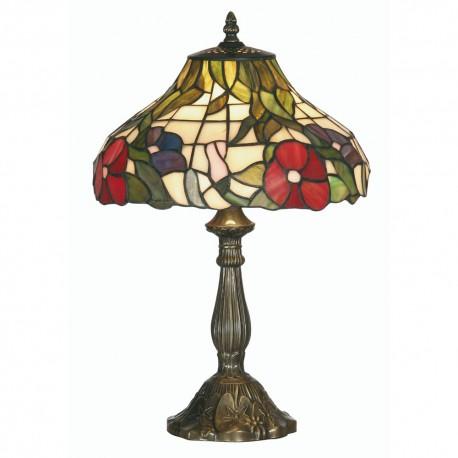 "Peonies Tiffany Table Lamp 12"""