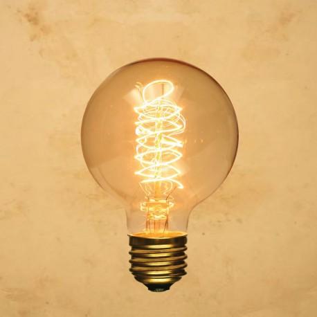 Vintage Incandescent ES 40W Globe Bulb