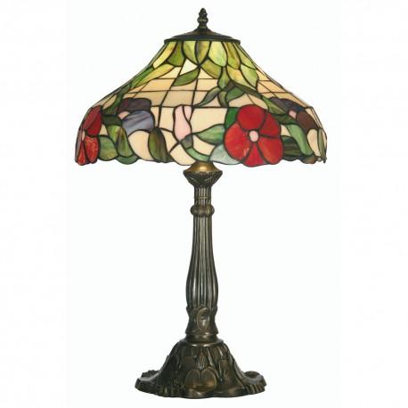 "Peonies Tiffany Table Lamp 16"""