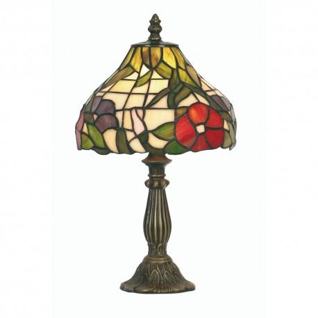 "Peonies Tiffany Table Lamp 8"""