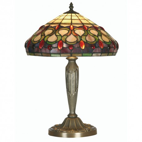 Oberon Tiffany Table Lamp 14""