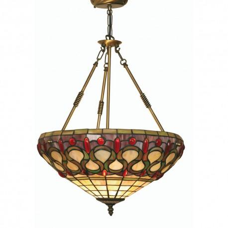 Oberon Tiffany Pendant Uplighter