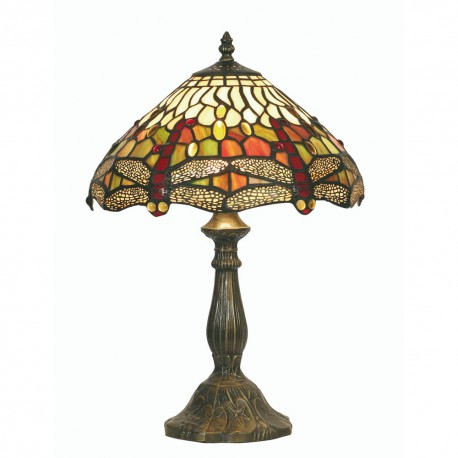 Dragon Fly Tiffany Table Lamp 12""