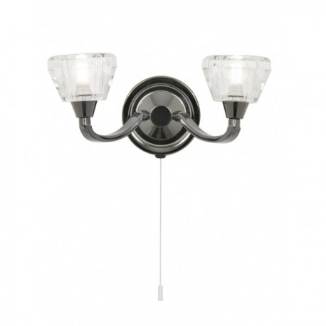 Palermo Mirror Black Wall Light