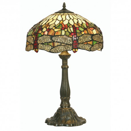 Dragon Fly Tiffany Table Lamp 16""