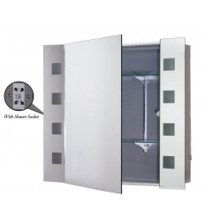 MIR7400 Illuminated Mirror Cabinet with Sockets