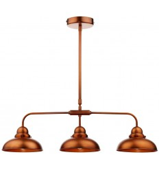 Dynamo 3 Light Copper Bar Pendant