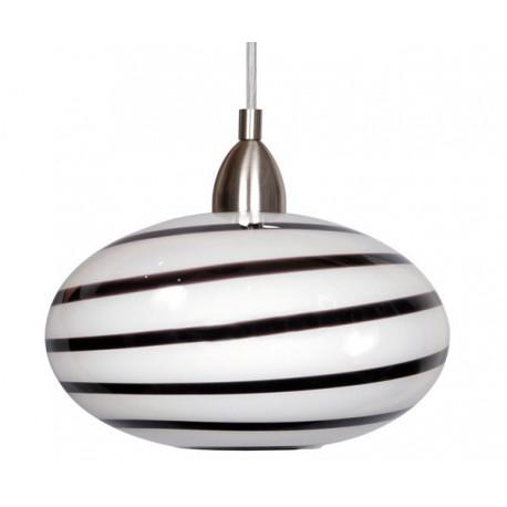 Naro One Light Black & White Swirl Pendant