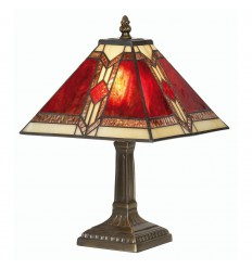 Aztec Tiffany Table Lamp 9""