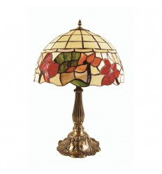 Border Tiffany Table Lamp 16""