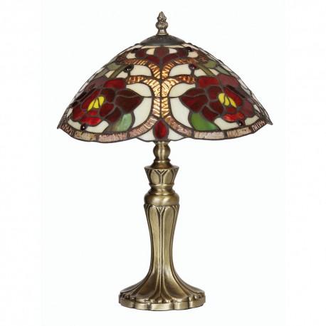 "Rose Tiffany Table Lamp 12"""