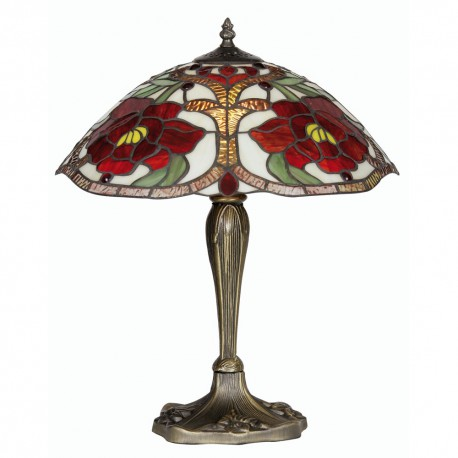 Rose Tiffany Table Lamp 16""