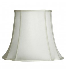 """Ivory 17"""" Oval To Square Shade"""