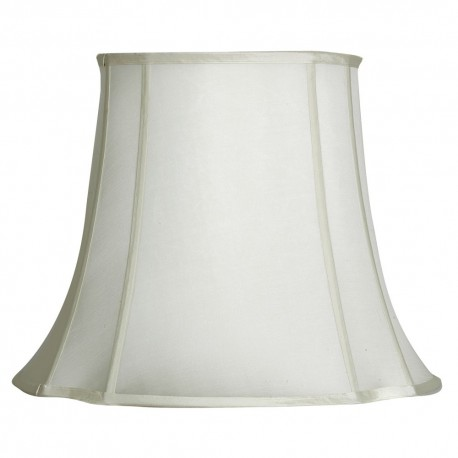 "Ivory 17"" Oval To Square Shade"