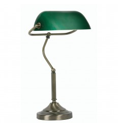 Bankers Lamp Antique Brass