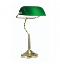 Bankers Lamp Polished Brass
