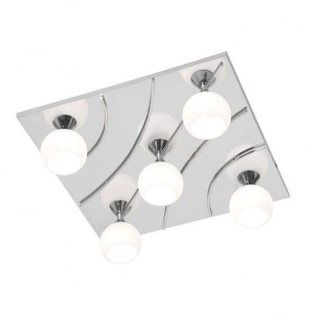 Manzano Chrome, Square With Bulbs