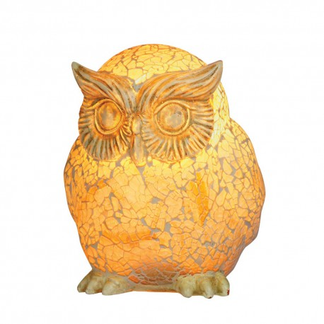 Owl Mosaic Glass Table Lamp