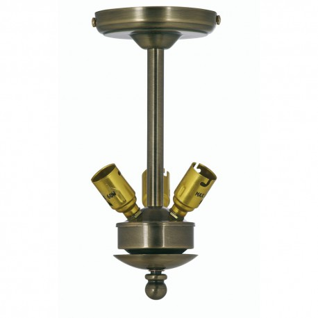 "Uplight Suspension 9"" 3 x 60W BC"