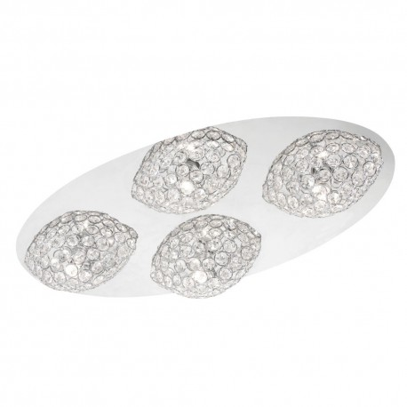 Linnea Chrome Ceiling Plate