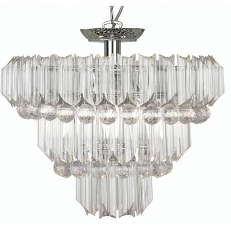 Decorative Acrylic 4 Bulb Pendant Clear