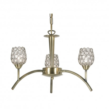 Koge Antique Brass 3 Light