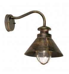 Weatherby Wall Light Black Gold