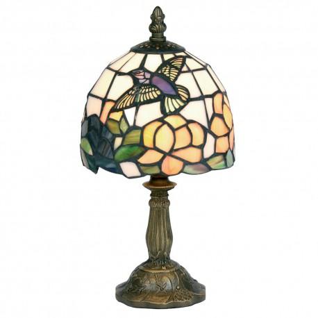 """Humming Bird 6"""" Tiffany Table Lamp"""